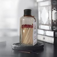 Small Matches Bottle – Matte Black Lid
