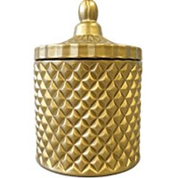Matte Gold Geo Cut Candle Large