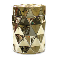 Diamond Candle Jar - Gold