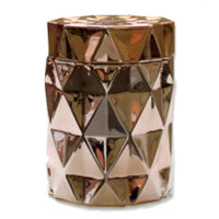 Diamond Candle Jar - Rose Gold