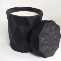 Diamond Candle Jar - Matte Black