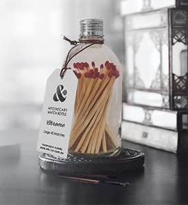 Clear Matches Bottle - Chrome Lid