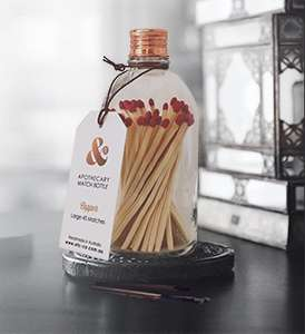 Clear Matches Bottle - Copper Lid