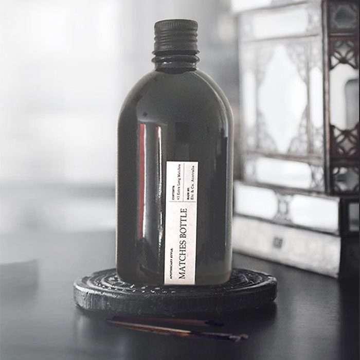 Black Matches Bottle – Matte Black Lid