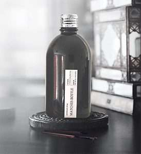 Black Matches Bottle - Chrome Lid