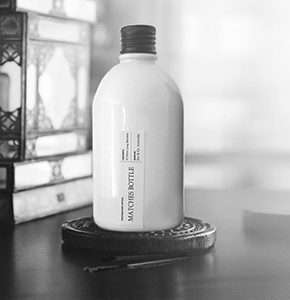 White Matches Bottle – Matte Black Lid