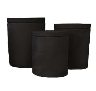 Black Sandstone Candle Jars
