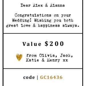 EGIFT CARD SAMPLE - $200