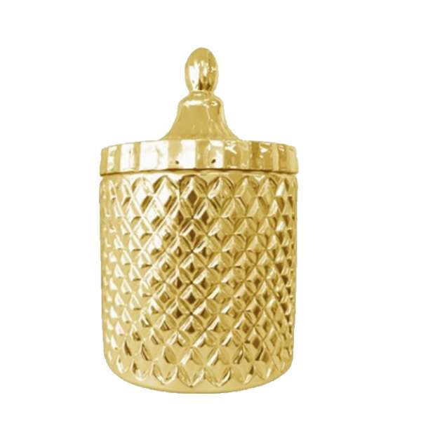 Gold Geo Cut Soy Candle