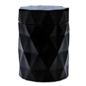 Matte Black Diamond Candle Jar