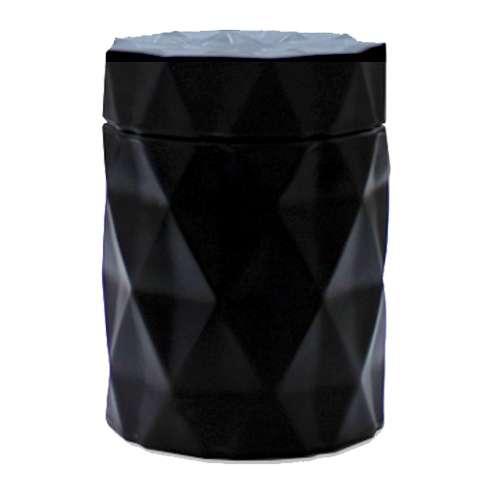 Matte Black Diamond Candle Jar