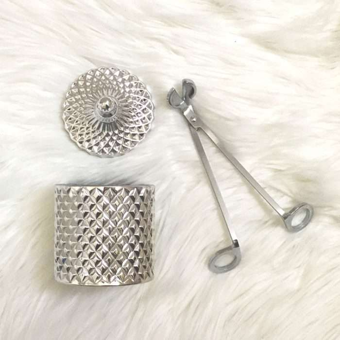 Chrome silver wick trimmer